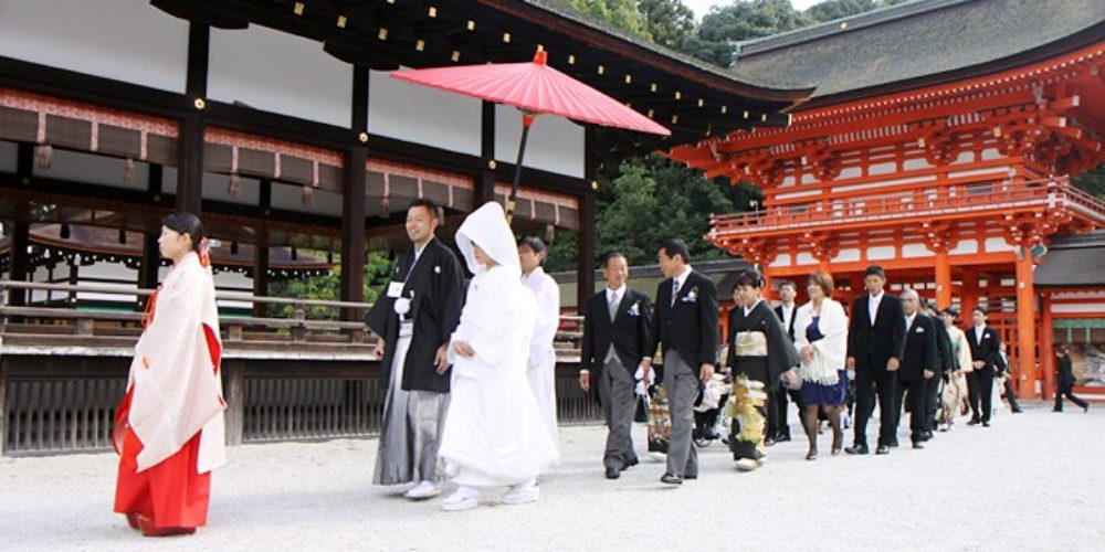 Japanese Style Wedding in Shrine